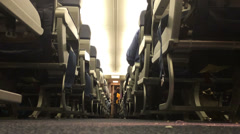 Low Angle Airplane Aisle 3964 Stock Footage