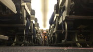 Stock Video Footage of Low Angle Airplane Aisle 3964