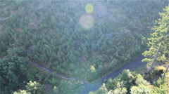 Aerial view of single track by HeliDog_Aerials Stock Footage