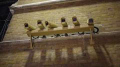 CCTV Cameras on wall Stock Footage