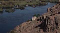 The Nile river near Aswan, Egypt Stock Footage