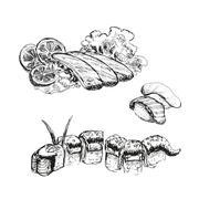 Sushi. Stock Illustration