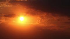 Sun Set Time Lapse Clouds Stock Footage