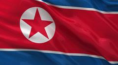 Flag of North Korea - seamless loop Stock Footage