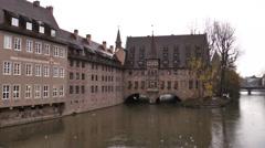 Rain in Nuremberg Stock Footage
