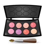 eyeshadow palette - stock illustration