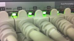 Network Hub Uplink in Data Center Stock Footage