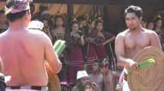 Mekare-kare ceremony, Tenganan, Bali, 26 June 2013 Stock Footage