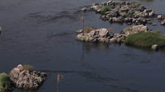A boat on the Nile river, Aswan, Egypt Stock Footage