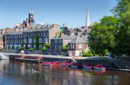 Stock Photo of river outhe in york, a city in england