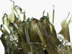 Morion quartz geode geological crystals Stock Photos