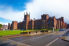 queen's university of belfast - stock photo