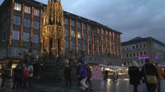 Schoner Brunnen Nuremberg Stock Footage