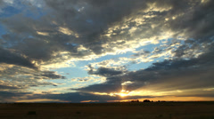 Fantastic Sunset Colorado Wide Shot - stock footage