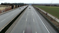 Stock Video Footage of Highway, view from above. Time-lapse