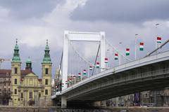 elisabeth bridge - stock photo