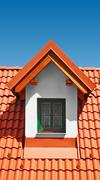 Stock Photo of roof with clay tiles