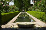 Stock Photo of generalife gardens, granada, andalusia
