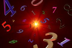 Magical knowledge about numbers (numerology). Stock Illustration