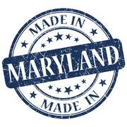 Made in maryland blue round grunge isolated stamp Stock Illustration