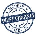 Stock Illustration of made in west virginia blue round grunge isolated stamp