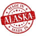 Stock Illustration of made in alaska red round grunge isolated stamp