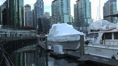 Coal Harbour Vancouver - stock footage