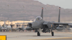 F-15E  Eagle at Red Flag Stock Footage