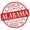 Stock Illustration of made in alabama red round grunge isolated stamp