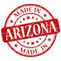 Stock Illustration of made in arizona red round grunge isolated stamp