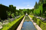 Stock Photo of generalife gardens, granada, spain