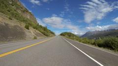 Alaska Highway Driving POV - Chugach Mountains 2 Stock Footage