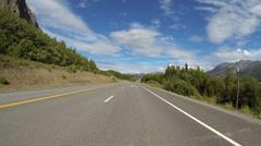 Alaska Highway Driving POV - Chugach Mountains 3 - stock footage