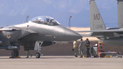 F-15 Eagle at Red Flag Stock Footage