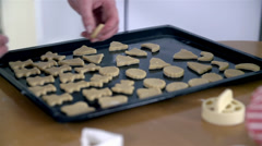 Tray full of cookies Stock Footage