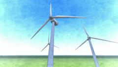 Wind power tower Stock Footage