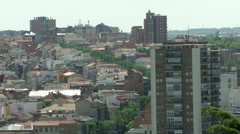 Crowded buildings and rooftops, Madrid Stock Footage