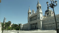 Almudena Church Stock Footage