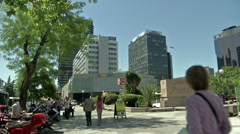 Pablo Picasso plaza, Madrid Stock Footage