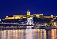 Stock Photo of danube river, chain bridge and buda castle
