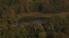 Sri Lanka-Pan across view from Mt. Pidurangala Stock Footage