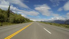 Alaska Highway Driving POV - Chugach Mountains 5 Stock Footage