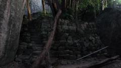 Sri Lanka_woman meditates on rock Stock Footage