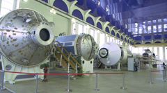 ISS inside the hangar wide shot Stock Footage