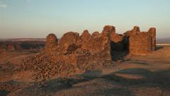 Pan on the English Mountain, Bahariya Oasis, Egyptian desert Stock Footage