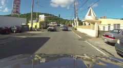 Driving small rural town Puerto Rico POV 4 HD 0248 Stock Footage