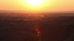 Bahariya Oasis at sunset, Egypt Stock Footage