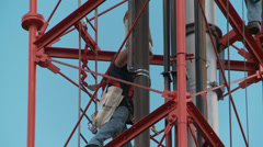 tower work - stock footage