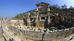Ruins of the ancient Ephesus Stock Footage