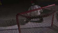 Team Sport - Ice Hockey - Trick Shot Stock Footage